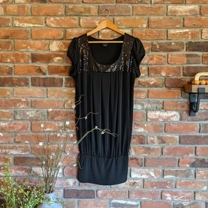 Torrid Little Black Dress with Sequined Neckline